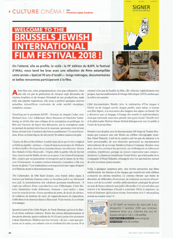 BJIFF 2018 - Regards Article Florence